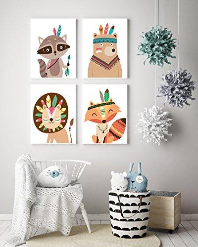 Poster für Kinderzimmer & Babyzimmer (DIN A4 Set) - 2