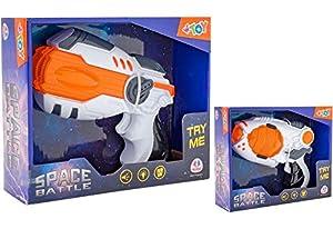 GLOBO- B/O Space Gun Light/Sound Try Me 2 Mod. (37579), (1)