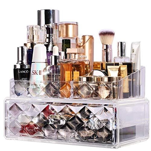 Tcbz Kosmetische Aufbewahrung Make-up Organizer Transparent Sieht Stilvoll Schminktisch Hautpflege Aufbewahrungsregal - Sieht Bronzer