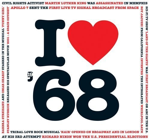 1968 Birthday Gift - 1968 I Heart CD and Greeting Card