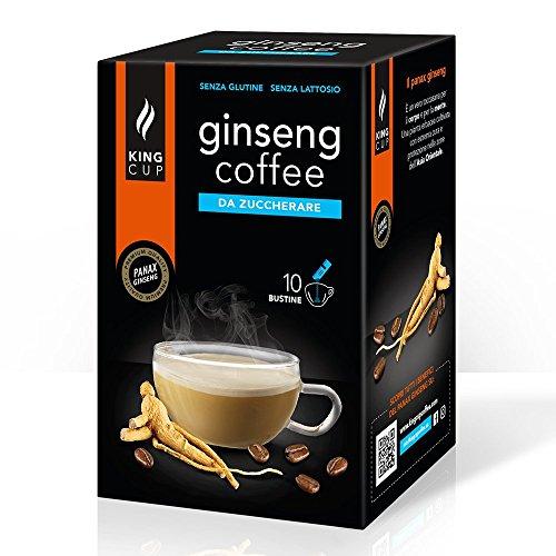 Ginseng Kaffee ungesüßt - Ginseng Kaffee löslich 10 Stck - King Cup Ginseng Kaffee