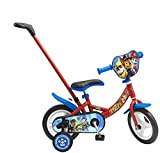 Toimsa - 1030 - Vélo pour Enfant avec Canne Directionnelle Sous Licence la Pat'Patrouille 10 pouce de 2 à 3 ans
