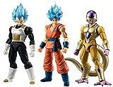Dragon Ball Z Dragon Ball Super Shodo Set of 3 3.75 PVC Figures [SSG Vegeta, SSG Goku & Gold Frieza] by Dragon Ball Z