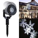 Hengda® LED Lichteffekt Projektor Schneeflocken Muster Kaltweiß Strahler innen außen IP65 Gartenbeleuchtung, Garten Scheinwerfer, LED Rasen Licht, LED Lawn Licht,Spotbeleuchtung, Bodenleuchte, Teichst