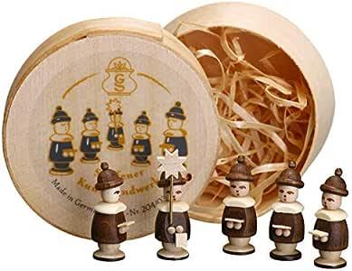 Holzdekoration Spanschachtel Kurrende natur  Durchmesser 8 cm NEU Spielzeug