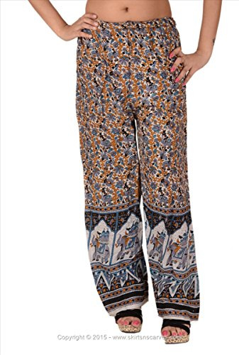 Skirts & Scarves Rayon Printed Harem Pant/Plazo for Women (Multi)