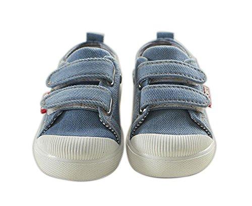 ALUK- 'Scarpe da tela di canapa coreana bambini casual' per bambini Scarpe basse per aiutare le scarpe autoadesivi magici del Consiglio ( colore : Azzurro , dimensioni : 21 )