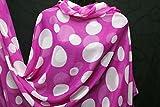 weiche Crinkle Chiffon Shocking Pink Polka Dots Print