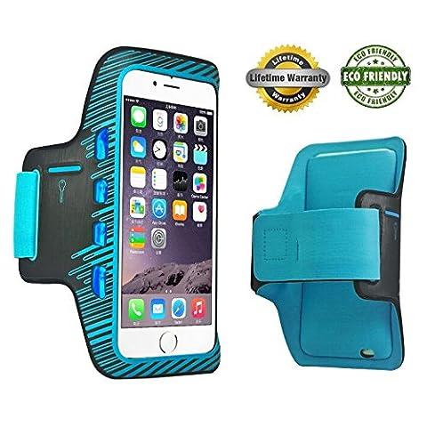 Apple iPhone 6 Plus Brassard spor,Course à Pied & d'exercice Gym SportBand + résistant à l'eau à la transpiration + Porte Clés + Carte d'identité/carte de