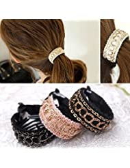 Cuhair (TM) Lot de 3pièces Accessoires pour cheveux Pince queue de Cercles élastiques pour cheveux Femmes