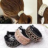 cuhair (TM) Gril (3pièces/lot) Accessoires cheveux queue de cheval Supports élastiques cheveux cercle Femmes simple pour