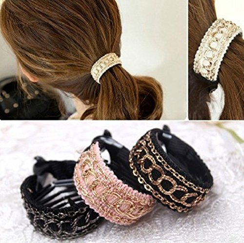 Cuhairtm-3pcs-Girl-Women-elastic-force-Ponytail-Holders-hair-Ties-Rope-bands-rubber-Scrunchie-Accessories