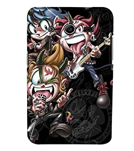 Samsung Galaxy CORE 2 MULTICOLOR PRINTED BACK COVER FROM GADGET LOOKS