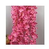 IHRKleid Blumengirlande Kunstblumen Deko Hochzeiten Blauregen Seidenblumen Künstliche home decor Wisteria Blumendeko 200cm (Rosa)