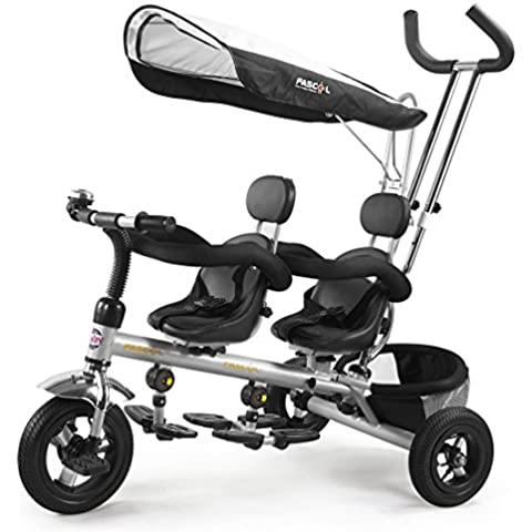Fascol® Bicicletas para niños 3 ruedas de la bicicleta doble asiento para niños de 1-6 años de bebé de los niños con de juguete
