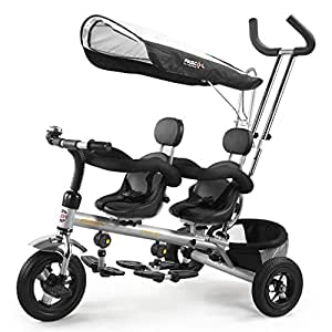 tricycle v lo poussette de luxe double v lo si ge d 39 enfant pour 1 6 ans les enfants b b avec. Black Bedroom Furniture Sets. Home Design Ideas