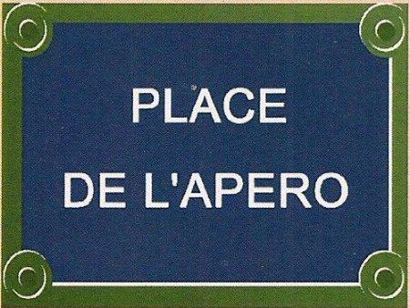 PLAQUE DE RUE METAL 20X15cm PLACE DE L'APERO France