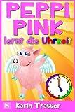 Peppi Pink lernt die Uhrzeit