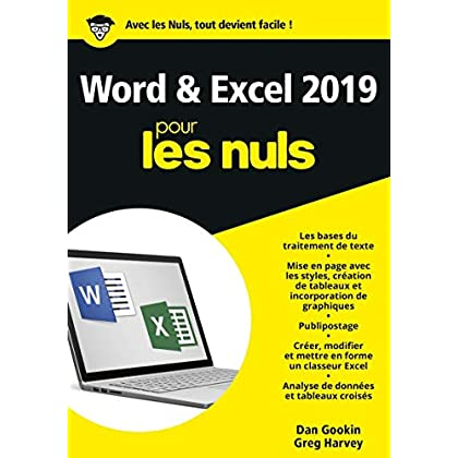 Word et Excel 2019 pour les Nuls