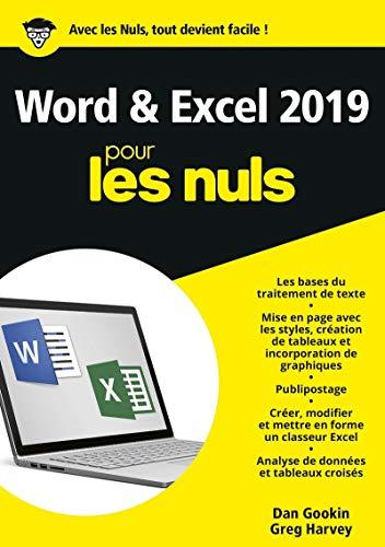 Word et Excel 2019 pour les Nuls par  Greg HARVEY, Dan GOOKIN