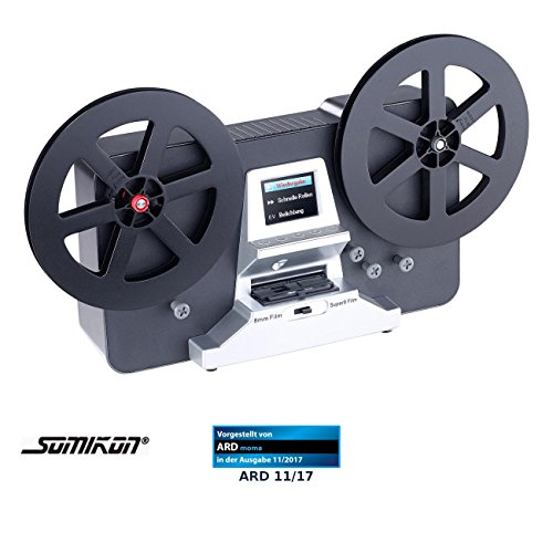 Somikon Filmscanner: HD-XL-Film-Scanner & -Digitalisierer für Super 8 und 8 mm, Stand-Alone (Super 8 Filmscanner)