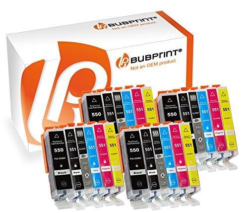 Bubprint 24er Set Druckerpatrone Kompatibel Für Canon Pixma MX925 IP7250 MG5650 MX725 Drucker Canon PGI-550 XL PGBK PGI-550BK CLI-551 XL Mit Chip