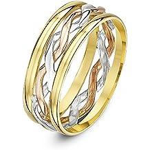 8feab1ec79e0 Theia Anillo de Bodas de Oro Blanco y Amarillo de 9k de 6 y 7mm Celta