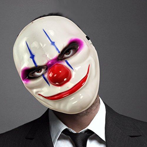 Requisite Clown Scary (Halloween Horror Ghost Gesicht Maske Clown Zombie Bar Dekoration Halloween Arrangement Masquerade)