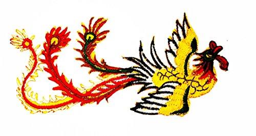 ache Tattoo Graphic Arts Wolfskopf-Motiv Patch Hand bestickt und Bügelbild Symbol Jacke T-Shirt patches aufnäher Zubehör (Chicken Little Kostüme)