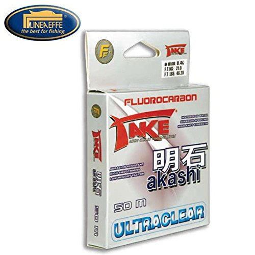 NYLON DE PECHE TAKE AKASHI ULTRACLEAR FLUOROCARBON 50 M Modèle: 0.14mm