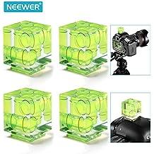 Neewer® 4 Paquete Tres Eje caliente zapato burbuja Nivel de aire para Canon Nikon DSLR cámaras, ideal para la fotografía panorámica, Costura de Foto, Fotografía Arquitectura, Vídeo Panorama y control de perspectiva