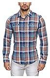 INDICODE Men's Casual Shirt (20031415--L...