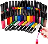 Elifestore christmas gift Prime Set of 24 Assorted Colours Nail Polish Nail Art Varnish Liner Brush Painting Pen Kit, Neons and Glitter Party Shades