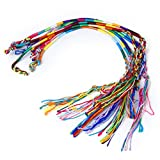 9pcs Pulsera Brazalete Multicolor Pulsera Hilo Trenzado Para Amistades