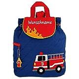 Rucksack Kindergartentasche mit Namen bedruckt Motiv Feuerwehr
