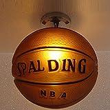 Kreative Deckenleuchte Basketball Design Deckenlampe Runden Glas Lampenabdeckung Lampe, Kinderlampe, Basketball Lichter, Schlafzimmer,Kinder-Deckenleuchte Ø25cm E27 Lampenfassung