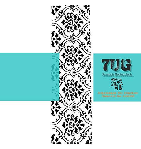 7UG Designer Schablone, Motiv Venezia, Filigrane Bordüre/Din A4 für unterschiedliche Anwendungen