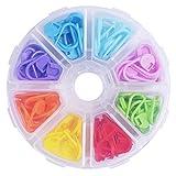 Marqueurs de Point de Verrouillage Multicolore Marqueurs de Mailles avec Boîte de Compartiment, 104 Pièces