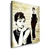 Wandbild `Audrey Hepburn`Bild - 100x70cm k. Poster ! Bild fertig auf Keilrahmen ! Pop Art Gemälde Kunstdrucke, Wandbilder, Bilder zur Dekoration - Deko. Film / Movie / Tv Stars Kunstdrucke
