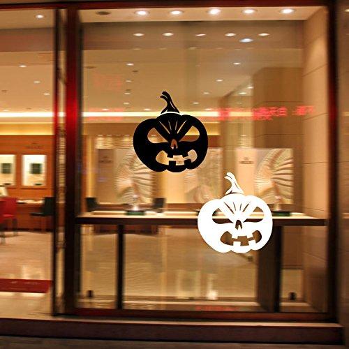 (ShopSquare64 Halloween-Kürbis-Aufkleber-PVC-abnehmbare Wand-Fenster-Aufkleber Terror-Halloween-Dekorationen)