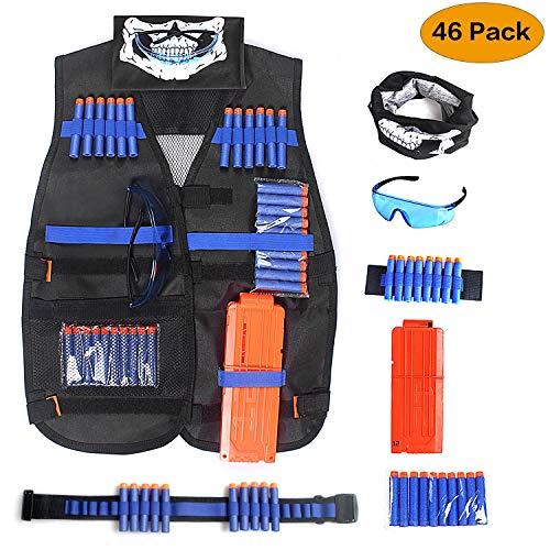 Unigear Gilet Tattico per Bambini, Kit per la Giungla, Mimetico, Combattimento, Imitazione Nerf N-Strike Elite Series