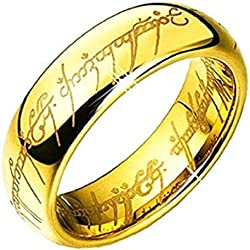 "6MM Bague Tungstene""Seigneur des Anneaux""LORD OF THE RINGS"" (57)"