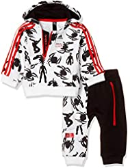 745975b3cf adidas Inf DY SM Jog – Tuta Unisex Bambini, Unisex Bambini, DV0836_104,  Bianco