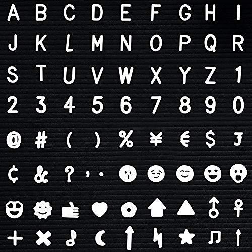 320 Caracteres Letras Tablero Letras Fieltro, Incluye