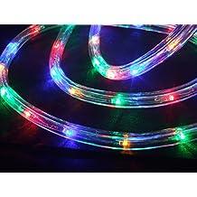 Tube lumineux - Cordon lumineux à LED 25 m multicolore pour usage intérieur et extérieur de Gartenpirat®