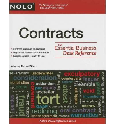 [ Contracts: The Essential Business Desk Reference Stim, Richard ( Author ) ] { Paperback } 2010
