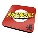 Pyramid International The Big Bang Theory Bazinga Red ufficiali bevande sottobicchiere in melamina protettiva con base in sughero, multicolore, 10 x 10 cm