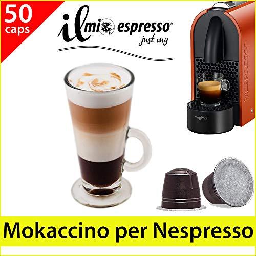 50 capsule compatibili Nespresso - 5 sacchetti da 10 capsule Mokaccino per macchina caffè Nespresso - Capsule dedicate a macchine Nespresso - Il Mio Espresso