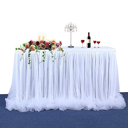 Daiiwwo Tabelle Tüllrock, Handgefertigte Tutu Table Rock Geschirr Tabelle Tuch Romantisch Für Party, Hochzeit, Geburtstag Party & Home Dekoration, 183 X 78 cm / 72 X 31 Zoll (Tuch Tabelle Rock)
