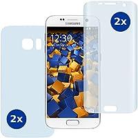 4 x mumbi PreForm Schutzfolie für Samsung Galaxy S7 (vorgeformte PET Displayschutzfolie passgenau für das gebogene Display) inkl. Folie für Rückseite